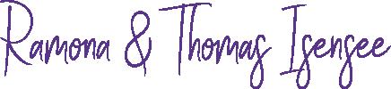 Unterschrift von Ramona und Thomas Isensee